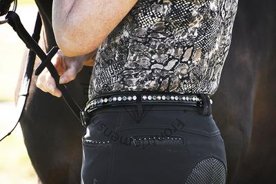 Sparkling Swarovski® crystals classic XL belt